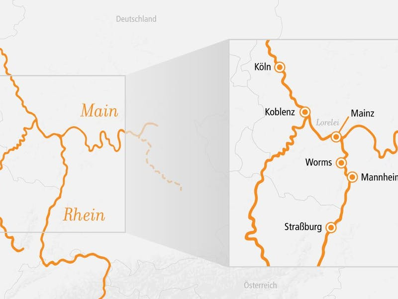 Rhein Main und Loreley